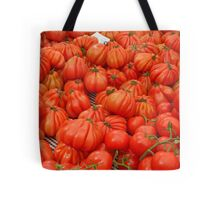 Piles of Tomatoes at Spanish Food Market Tote Bag