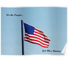 American flag, We the People Poster