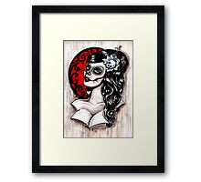 Day of the dead pinup tattoo Framed Print