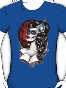 Blue - Day of the dead pinup tattoo T-Shirt