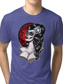 Day of the dead pinup tattoo Tri-blend T-Shirt