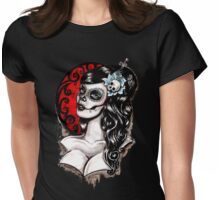 Day of the dead pinup tattoo Womens Fitted T-Shirt