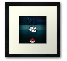 A wild Troll Appeared! Framed Print