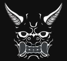 Oni (no outline knockout) by DesignShinobi