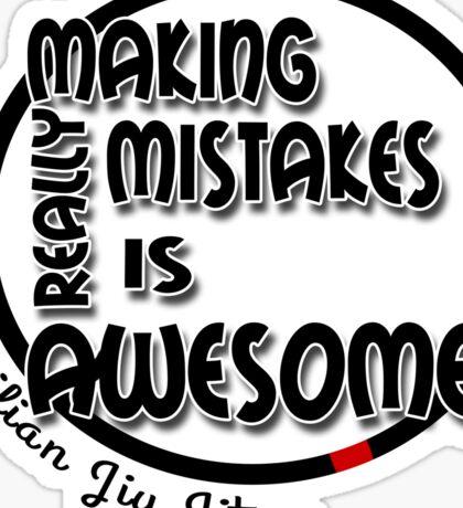 BJJ Brazilian Jiu Jitsu - making mistakes Sticker