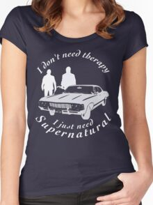 supernatural sam and dean, baby Women's Fitted Scoop T-Shirt