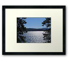 Tranquil Lake Coeur d'Alene Framed Print
