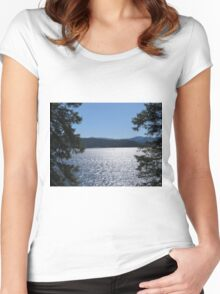 Tranquil Lake Coeur d'Alene Women's Fitted Scoop T-Shirt