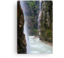 Alpine Waterfall Canvas Print