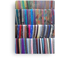 Rows Stripes of Hanging Colourful Pashmina Scarves  Metal Print