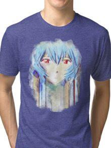 Ayanami Rei Evangelion Anime Tra Digital Painting  Tri-blend T-Shirt