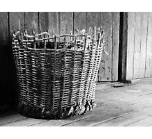 Old Basket Photographic Print