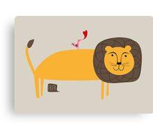 Der freundliche Löwe Canvas Print