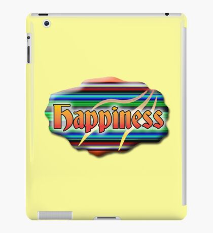 It's Good to Find.. Happiness iPad Case/Skin