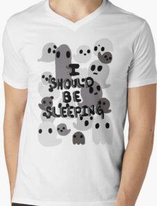 Sleeping Mens V-Neck T-Shirt