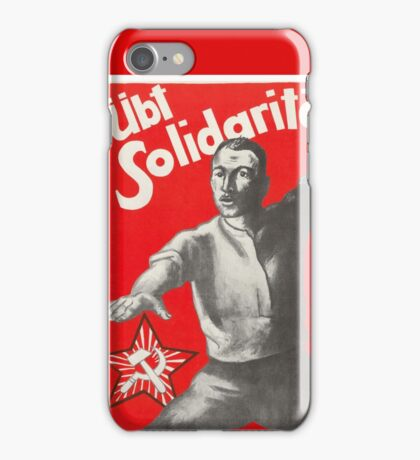Old Communist Poster - Support Soviet Russia 1927 iPhone Case/Skin