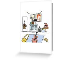 Bedroom Corner  Greeting Card