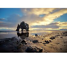 Rock at Hvitserkur, Iceland Photographic Print