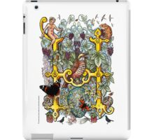"The Illustrated Alphabet Capital  H  ""Getting personal"" iPad Case/Skin"