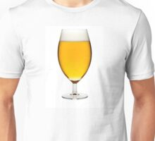Beer in a glass, isolated, white background Unisex T-Shirt