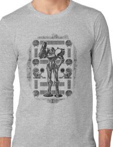 Metroid Samus Aran Geek Line Artly Long Sleeve T-Shirt