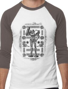 Metroid Samus Aran Geek Line Artly Men's Baseball ¾ T-Shirt