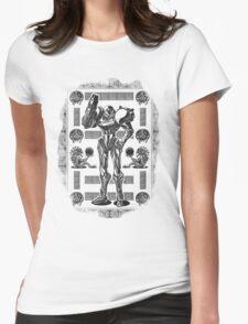 Metroid Samus Aran Geek Line Artly Womens Fitted T-Shirt