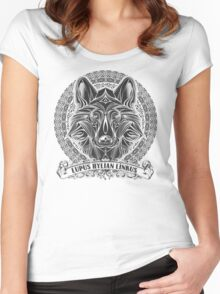 Legend of Zelda Twilight Princess Wolf Link Line Artly  Women's Fitted Scoop T-Shirt