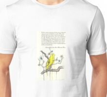 Ode to Bird's Melancholic Music (with original poem by Zackary Brownlee)  Unisex T-Shirt