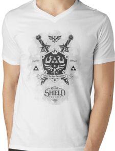 Legend of Zelda Hylian Shield Geek Line Artly  Mens V-Neck T-Shirt