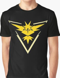 Pokemon Go | Team Instinct | Black Background | HUGE | New! | High Quality! Graphic T-Shirt