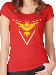 Pokemon Go | Team Instinct | Black Background | HUGE | New! | High Quality! Women's Fitted Scoop T-Shirt