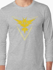 Pokemon Go | Team Instinct | Black Background | HUGE | New! | High Quality! Long Sleeve T-Shirt