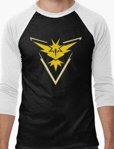 Pokemon Go | Team Instinct | Black Background | HUGE | New! | High Quality! Men's Baseball ¾ T-Shirt
