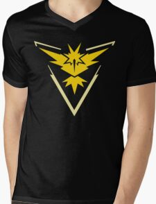 Pokemon Go | Team Instinct | Black Background | HUGE | New! | High Quality! Mens V-Neck T-Shirt