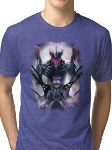 Kawrou Evangelion Anime Tra Digital Painting  Tri-blend T-Shirt