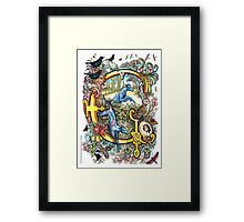 """The Illustrated Alphabet Capital  G  """"Getting personal"""" Framed Print"""