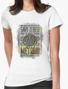Metroid Propaganda Geek Line Artly  Womens Fitted T-Shirt
