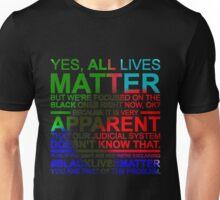 All Lives Matter T-shirt - Very Apparent  Unisex T-Shirt