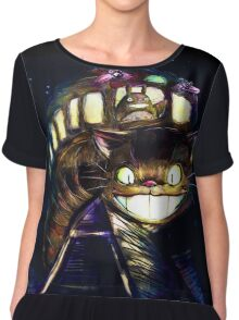 Cat Bus and Totoro are in Your Town Chiffon Top