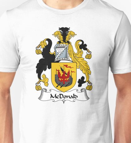 McDonald Coat of Arms / McDonald Family Crest Unisex T-Shirt