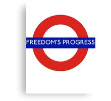 Fandom Tube- FREEDOM'S PROGRESS Canvas Print