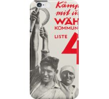 Vote for Communist party (1928) German & Soviet Russia iPhone Case/Skin