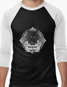 Pride of the Forest Wolf Mononoke Geek Line Artly Men's Baseball ¾ T-Shirt