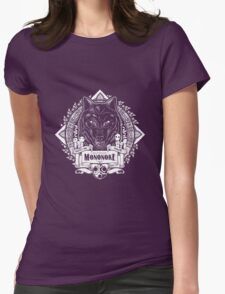 Pride of the Forest Wolf Mononoke Geek Line Artly Womens Fitted T-Shirt