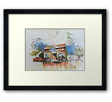 Freedom sketch 3 Framed Print