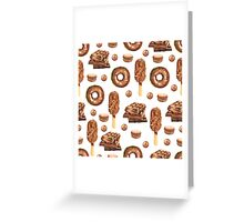 Chocolate Lovers Dessert Pattern Greeting Card