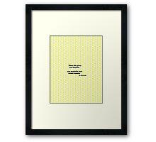 When life gives you lemons.. Framed Print