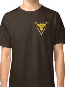 Pokemon Go | Team Instinct | Black Background | Small | New! | High Quality! Classic T-Shirt