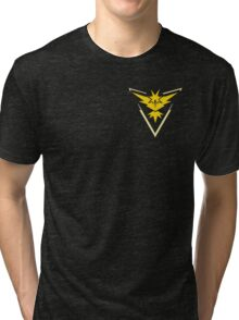 Pokemon Go | Team Instinct | Black Background | Small | New! | High Quality! Tri-blend T-Shirt